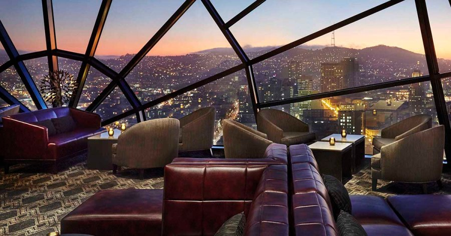 The View Lounge at Marriott Marquis San Francisco.