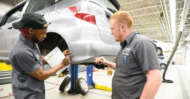 service techs David White and Matt Smith, Motorcars Honda, Cleveland Heights, Ohio